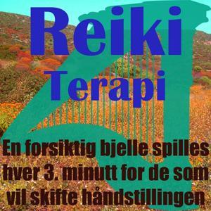 Reiki terapi (En forsiktig bjelle spilles hver 3. minutt for de som vil skifte håndstillingen)